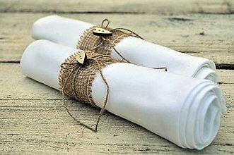 Úžitkový textil - Krúžok na príručníky - 6816403_