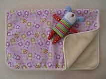 Textil - Deka/ prikrývka 100% MERINO Sovička francuzsky dizajn - 6816335_