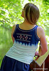 Tielka - Dámske tielko batikované, maľované, folk PREPELIČKA - 6816870_