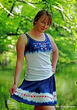 Tielka - Dámske tielko batikované, maľované, folk PREPELIČKA - 6816880_