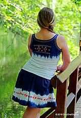 Tielka - Dámske tielko batikované, maľované, folk PREPELIČKA - 6816928_