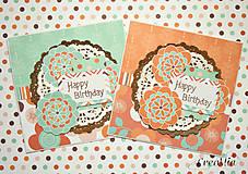 Papiernictvo - Retro Happy Birthday - sada pohľadníc k narodeninám - 6816421_