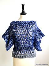pulóver - veľké modré vlny