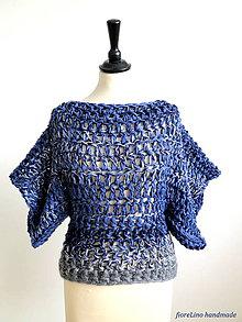 Svetre/Pulóvre - pulóver - veľké modré vlny - 6816863_