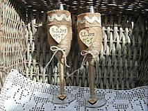 Nádoby - Svadobné poháre s dátumom - 6819595_