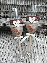 Nádoby - Svadobné poháre Natural 2 - 6819628_