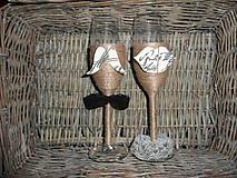Nádoby - Svadobné poháre Lips & Moustache 2 - 6819693_