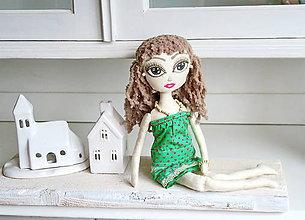 Bábiky - Bábika pre slečnu, dievčatko Amélia - 6819432_