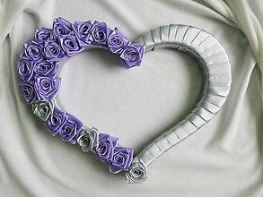 Dekorácie - svadobné srdce - 6819842_