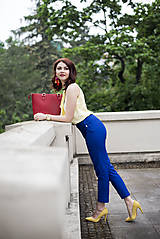 Nohavice - Modré nohavice skrátenej dĺžky - 6819016_
