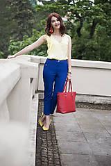 Nohavice - Modré nohavice skrátenej dĺžky - 6819017_