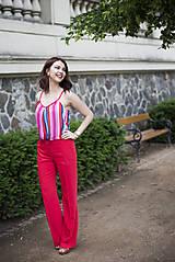Nohavice - Červené nohavice široké - 6819222_