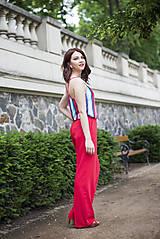 Nohavice - Červené nohavice široké - 6819223_