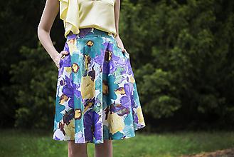 Sukne - Letná kruhová sukňa 2 - 6818871_