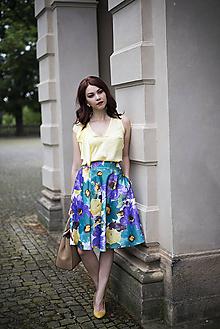 Sukne - Letná kruhová sukňa 2 - 6818873_