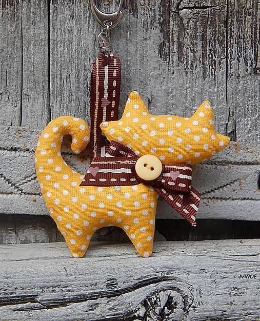 c8e58f1f9 Prívesok na kľúče - žltá mačička / ivinoe - SAShE.sk - Handmade ...