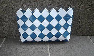 Taštičky - Domino modro biela - 6817587_
