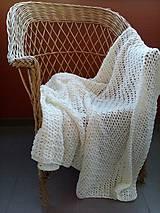 Úžitkový textil - Háčkovaná letná deka - 6818848_