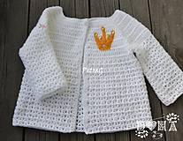 Detské oblečenie - Svetrík pre malé princezné - 6819047_