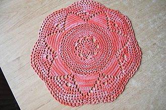 Úžitkový textil - Háčkovaná dečka melírovaná - 6819206_