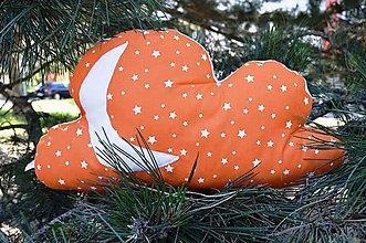 Úžitkový textil - Vankúšik Obláčik - oranžový - 6820457_
