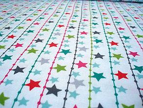 Textil - Christmas Dreams - hviezdy - 6821401_