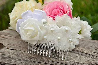Ozdoby do vlasov - Svadobný hrebienok do vlasů Rose Dream - 6820674_