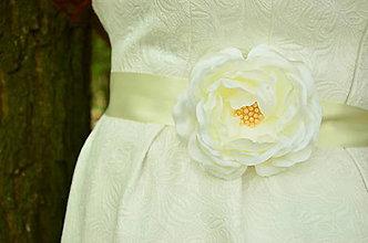 Opasky - Svadobný opasok Ivory Romantic Rose - 6822912_