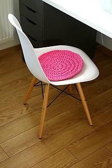 Úžitkový textil - ...podsedák na stoličku v ružovej - 6820111_