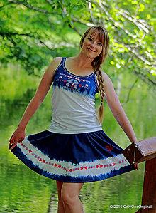 Sukne - Sukňa batikovaná, maľovaná, folk DUPÁK - 6820451_