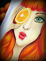 Tričká - Dievča s pomarančom 2 - 6820982_
