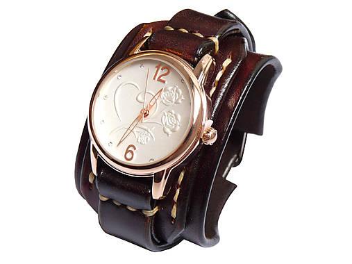Dámske vintage hodinky tmavohnedé   leon - SAShE.sk - Handmade Náramky bc2d37de8f7