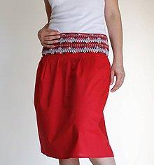Sukne - bavlnená sukňa červená - 6820519_