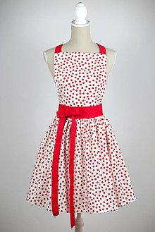 Iné oblečenie - ŠATOVÁ KUCHYNSKÁ ZÁSTERA MARILYN dots - 6822444_