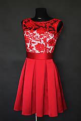 Šaty - Koktejlové šaty so skladanou sukňou a hrubou krajkou rôzne farby - 6820707_