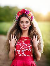 Šaty - Koktejlové šaty so skladanou sukňou a hrubou krajkou rôzne farby - 6820716_