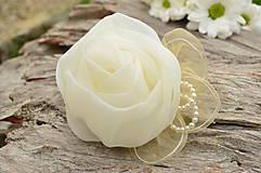 - Svadobná brošňa Ivory Romantic Rose - 6825433_