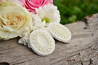 Náušnice - Svadobné náušnice White Love + Dárková krabička - 6826128_