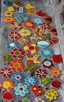 Dekorácie - kvety na mozaikovanie - 6824673_