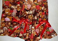 Pyžamy a župany - Čokoláda s mašľami - 6826309_