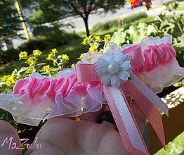 Bielizeň/Plavky - svadobný podväzok (ružový)II. - 6823816_