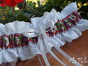 Bielizeň/Plavky - Folklórny  podväzok - 6826159_