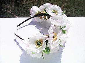"""Ozdoby do vlasov - Kvetinová čelenka do vlasov """"Biely mak"""" - 6824700_"""