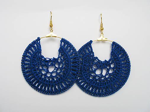 Modré háčkované náušnice   ti.nyu - SAShE.sk - Handmade Náušnice fd375e9e9ec