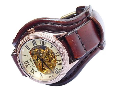 45be933b4 Vintage hodinky pánske tmavohnedé / leon - SAShE.sk - Handmade Náramky