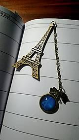 Papiernictvo - Kovová záložka v tvare Eiffel tower - 6826269_