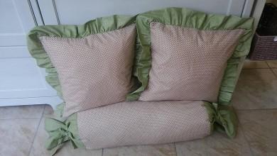 Úžitkový textil - Vankúšiky a valec pre Moniku - 6824163_