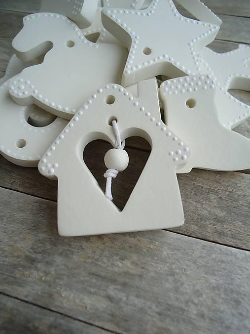 Ozdoby vianočné biele - sada Keď biele, tak biele...