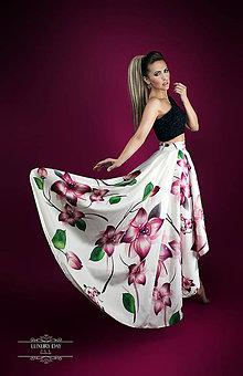Sukne - sukňa flower HighLow - 6827386_