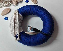 Dekorácie - Veniec na dvere Modrý vtáčí. - 6829698_